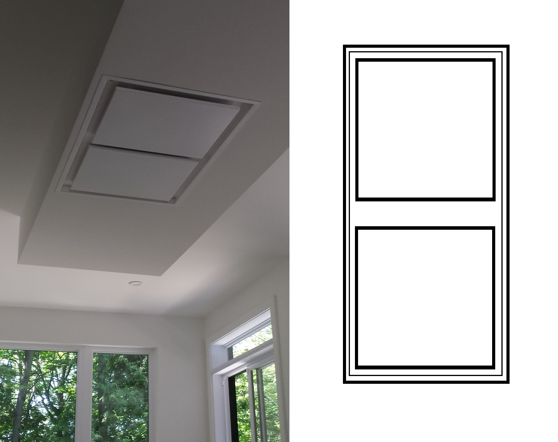 hottes plafond